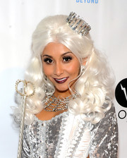 Nicole Polizzi put on a curly white wig for her Night of the Living Drag costume.
