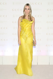 Elizabeth Kurpis added a touch of spring to the Sloan-Kettering ball in this yellow organza gown.