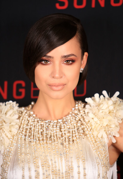 Sofia Carson styled her hair into a faux bob for the celebration of the release of her new movie, 'Songbird.'