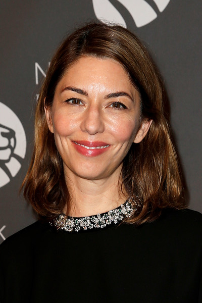 Sofia Coppola Mid-Length Bob [hair,face,eyebrow,hairstyle,chin,lip,forehead,brown hair,cheek,layered hair,sofia coppola,new york public library,new york city,library lions,new york public library 2018 library lions gala]