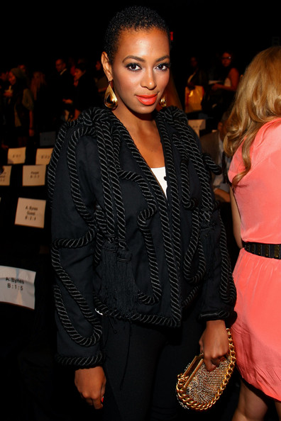 Solange Knowles Gold Dangle Earrings