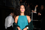 Solange Knowles Fur Coat