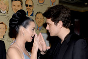 Recording artists  Katy Perry (L) and John Mayer attend the Sony Music Entertainment Post-Grammy Reception at The Palm on January 26, 2014 in Los Angeles, California.