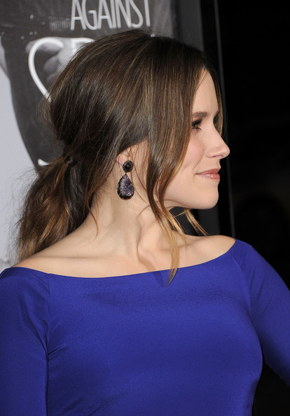 Sophia Bush Dangling Crystal Earrings