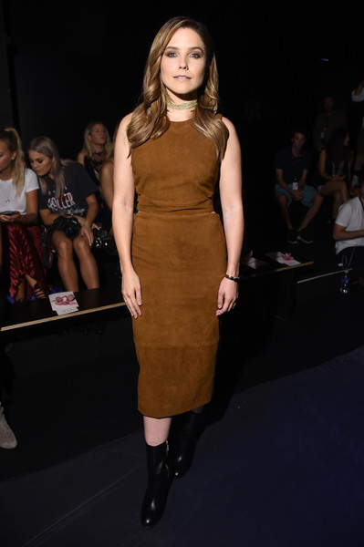 Sophia Bush Suede Dress
