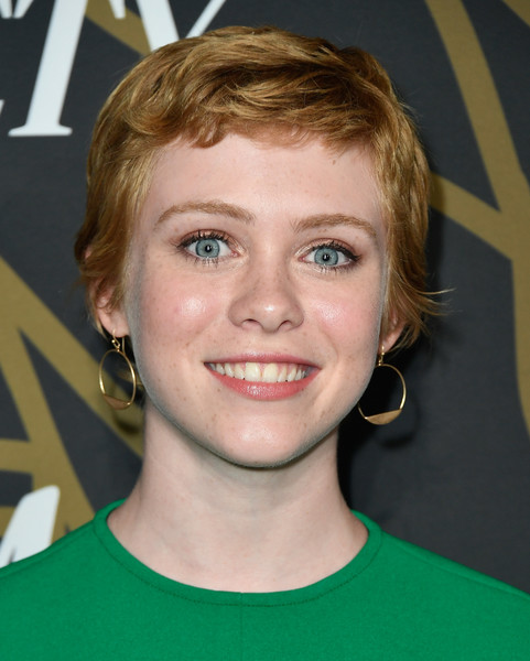 Sophia Lillis Pixie [hair,face,hairstyle,blond,eyebrow,chin,forehead,head,lip,smile,variety power of young hollywood - arrivals,tao hollywood,los angeles,california,sophia lillis]