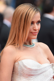Petra Nemcova looked stylish with her layered cut at the Cannes Film Festival screening of 'Sorry Angel.'