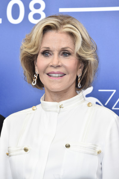 Jane Fonda attended the Venice Film Festival photocall for 'Our Souls at Night' wearing her signature bob.