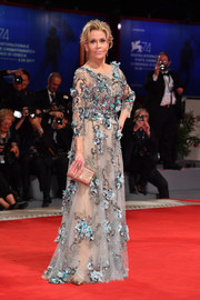 Jane Fonda made jaws drop with this floral-embroidered gown by Marchesa at the Venice Film Festival premiere of 'Our Souls at Night.'