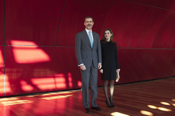 More Pics of Queen Letizia of Spain Pumps (1 of 35) - Heels Lookbook - StyleBistro [red,suit,fashion,event,performance,stage,formal wear,photography,performing arts,terrorism victims foundation awards,spanish,spain,madrid,reina sofia museum,royals,felipe,letizia]