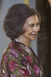 Queen Sofia wore a textured bob at the New Year's Military Parade 2018.