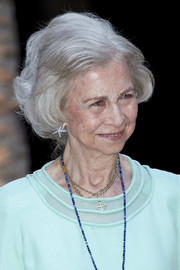 Queen Sofia wore her hair in a classic bob while attending a dinner for authorities in Palma de Mallorca.