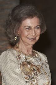 Queen Sofia attended a dinner in Palma de Mallorca wearing her signature curly bob.