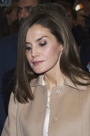 Queen Letizia of Spain kept it simple with this mid-length bob at the 2018 FITUR International Tourism Fair.