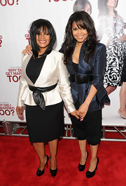 Rebbie Jackson's straight hair with bangs was a fresh and fashionable 'do for a special screening for 'Why Did I Get Married Too' in New York City.