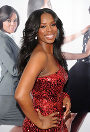 "Tasha Smith was all smiles as she flaunted her flowing long locks at the premiere of ""Why Did I Get Married""."