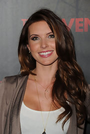 Audrina Patridge kept her hair casual for a screening of 'The Raven.' The celeb wore her locks in long loose waves and curls.