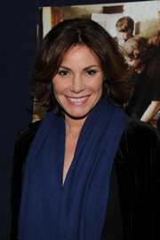 LuAnn de Lesseps looked cool with her windblown razor cut at the NYC screening of 'August: Osage County.'