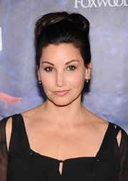 Gina Gershon went retro with this high bun at the Broadway opening of 'Spider-Man Turn Off the Dark.'