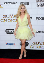 We'd be twirling, too, if we were wearing a summery lemon dress like Kristen Bell's at the Guys Choice Awards.