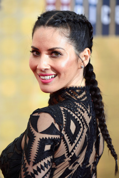 More Pics of Olivia Munn French Braid (11 of 24) - Hair Lookbook - StyleBistro [guys choice 2016,hair,face,hairstyle,facial expression,beauty,eyebrow,smile,lady,fashion,chin,olivia munn,arrivals,culver city,california,spike tv,sony pictures studios]
