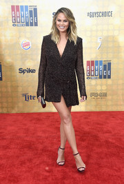 Chrissy Teigen's fabulous legs were the stars of the show when she wore this short, micro-beaded tux dress to Spike TV's Guys Choice 2016.
