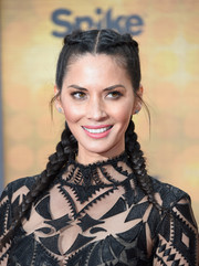 Olivia Munn was equal parts cute and edgy wearing these double French braids during Spike TV's Guys Choice 2016.
