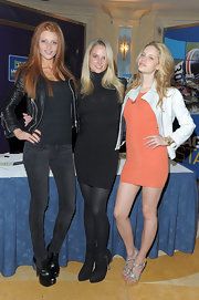 Cintia Dicker was seen wearing an all-black outfit including a pair of sky-high platforms at an autograph signing day with Sports Illustrated.