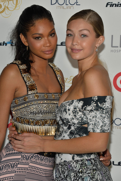 More Pics of Gigi Hadid Off-the-Shoulder Dress (1 of 7) - Dresses & Skirts Lookbook - StyleBistro [sports illustrated,hair,hairstyle,beauty,fashion,shoulder,dress,long hair,event,cocktail dress,fashion design,chanel iman,gigi hadid,the gale hotel,miami,florida,swimsuit south beach soiree,sports illustrated swimsuit south beach soiree]