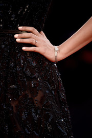 Eleonora Carisi wore an elegant gold bracelet watch at the Venice Film Festival premiere of 'Spotlight.'
