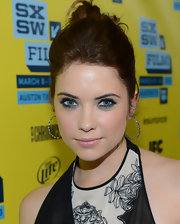 Ashley Benson's blue eyes popped when lined with bright blue liner and shadow.