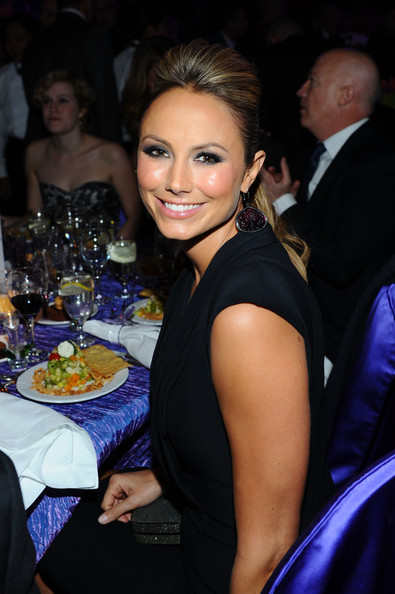 Stacy Keibler Dangling Diamond Earrings