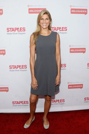 Gabrielle Reece kept it fuss-free with this sleeveless gray dress at the #StaplesLive 2016.