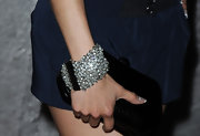 Aimee donned a great diamond bracelet while walking the red carpet at the Young Hollywood party. It was a great stand out piece that brought her navy dress to life.