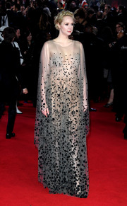 Gwendoline Christie was a showstopper in a dotted, naked-effect gown by Iris van Herpen Couture at the European premiere of 'Star Wars: The Last Jedi.'