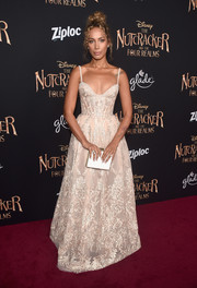 Leona Lewis looked downright regal in an intricately embroidered ball gown by Michael Cinco at the world premiere of 'The Nutcracker and the Four Realms.'