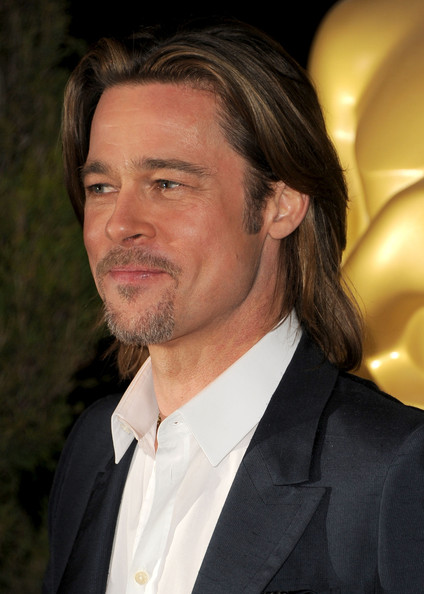 More Pics of Brad Pitt Men's Suit (1 of 25) - Brad Pitt Lookbook - StyleBistro