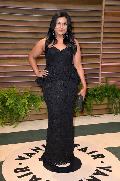 More Pics of Mindy Kaling Gemstone Ring (1 of 3) - Gemstone Rings Lookbook - StyleBistro [clothing,dress,lady,gown,fashion model,shoulder,standing,fashion,formal wear,black hair,mindy kaling,graydon carter,stars,west hollywood,california,vanity fair,oscar party]