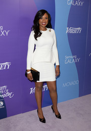 Jennifer Hudson looked very classy in a little white peplum dress at the Variety Power of Women event.