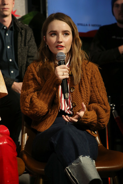 More Pics of Kaitlyn Dever Cowboy Boots (1 of 6) - Boots Lookbook - StyleBistro [stellas film lounge: a live q a,fashion,event,adaptation,performance,sitting,drink,producers,directors,cast,kaitlyn dever,cast,producers,them that follow,stellas film lounge,stella artois deadline sundance series at stellas film lounge: a live q a]