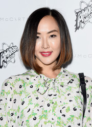 Chriselle Lim showed off a perfect bob at the Stella McCartney presentation.