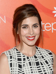 Jamie-Lynn Sigler styled her hair into a chic loose updo for the Inspiration Awards.