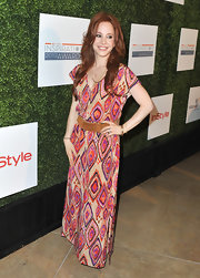 Amy Davidson's printed maxi had a cool boho feel to it at the Inspiration Awards.
