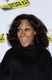 Tracee Ellis Ross wore her hair in a retro Motown-esque style with large curls at the 'Stick Fly' opening night.