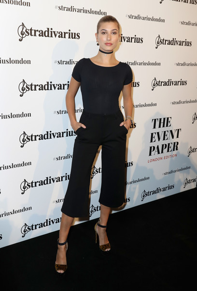 Hailey Baldwin at Stradivarius: The Event Paper Launch
