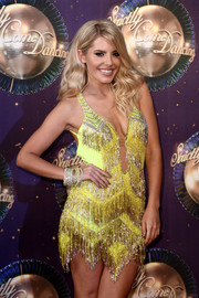 Mollie King wore layers of bedazzled bangles to match her sparkly dress at the 'Strictly Come Dancing 2017' launch.