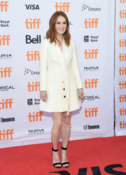 Julianne Moore kept it simple yet smart in a white tux dress by Christian Dior at the TIFF premiere of 'Suburbicon.'