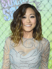 Karen Fukuhara showed off chic ombre waves at the world premiere of 'Suicide Squad.'