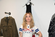 Suki Waterhouse Leather Sneakers