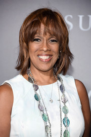 Gayle King went for a trendy razor cut at the New York premiere of 'Sully.'